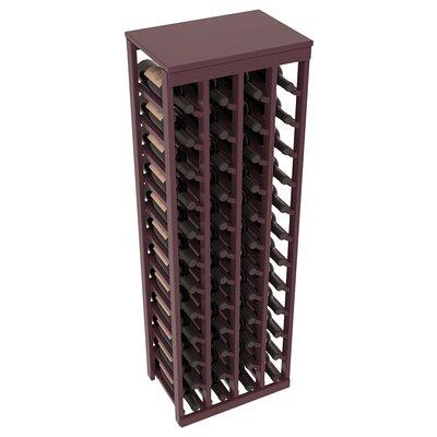 Karnes Pine 48 Bottle Floor Wine Rack Finish: Burgundy Satin