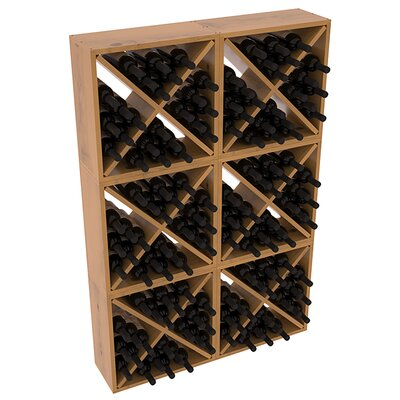 Karnes Pine Rustic Cube 144 Bottle Floor Wine Rack Finish: Oak Satin