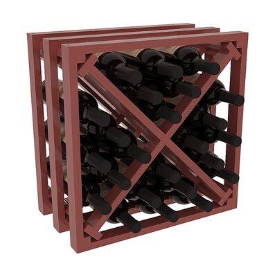 Karnes Pine Lattice X-Cube 24 Bottle Tabletop Wine Rack Finish: Cherry Satin