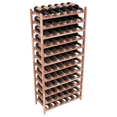 Karnes Redwood Stackable 72 Bottle Floor Wine Rack Finish: Natural Satin