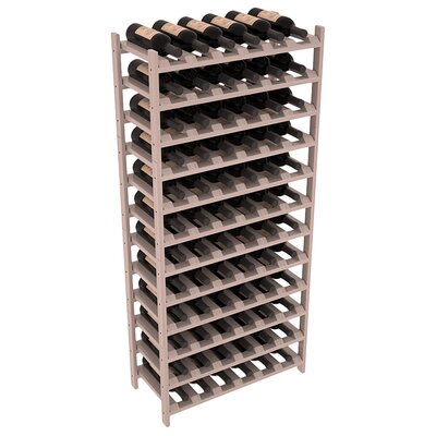 Karnes Redwood Stackable 72 Bottle Floor Wine Rack Finish: Gray Satin