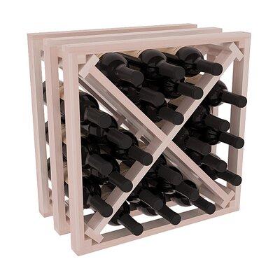 Karnes Redwood Lattice X-Cube 24 Bottle Tabletop Wine Rack Finish: Gray Satin