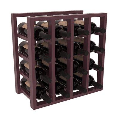 Karnes Pine Lattice 16 Bottle Tabletop Wine Rack Finish: Burgundy Satin