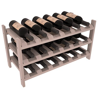 Stratton Stackable 18 Bottle Tabletop Wine Rack Finish: Gray Satin