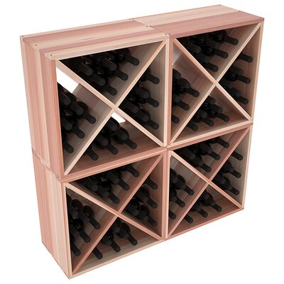 Karnes Redwood X-Cube 96 Bottle Floor Wine Rack Finish: Natural Satin