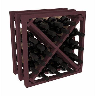 Karnes Pine Lattice X-Cube 24 Bottle Tabletop Wine Rack Finish: Burgundy
