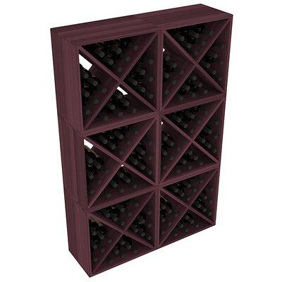 Karnes Redwood X-Cube 144 Bottle Floor Wine Rack Finish: Burgundy
