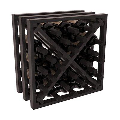 Karnes Redwood Lattice X-Cube 24 Bottle Tabletop Wine Rack Finish: Black Satin