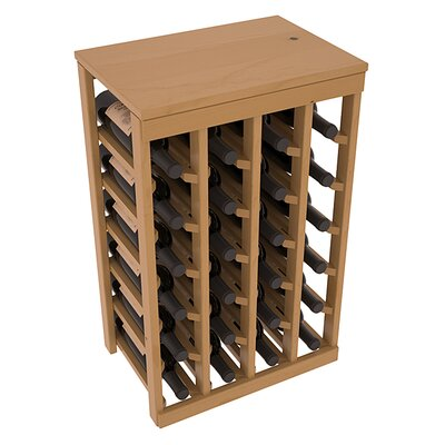 Karnes Pine 24 Bottle Floor Wine Rack Finish: Oak Satin