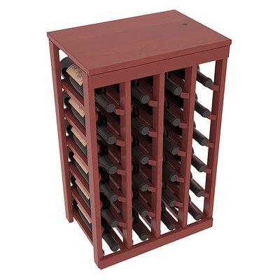 Karnes Pine 24 Bottle Floor Wine Rack Finish: Cherry Satin