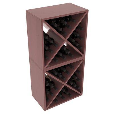 Karnes Pine X-Cube 48 Bottle Floor Wine Rack Finish: Walnut Satin