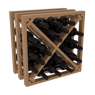 Karnes Pine Lattice X-Cube 24 Bottle Tabletop Wine Rack Finish: Oak Satin