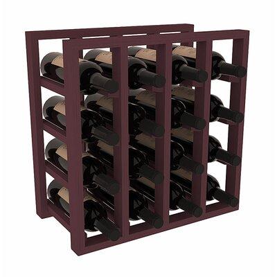 Karnes Pine Lattice 16 Bottle Tabletop Wine Rack Finish: Burgundy