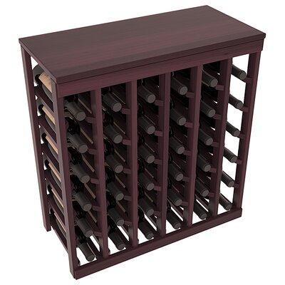 Karnes Redwood Table Top 36 Bottle Floor Wine Rack Finish: Burgundy Satin