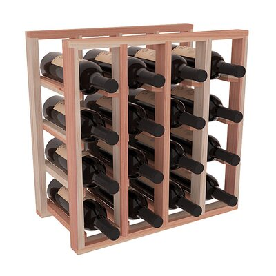 Karnes Redwood Lattice 16 Bottle Tabletop Wine Rack Finish: Natural