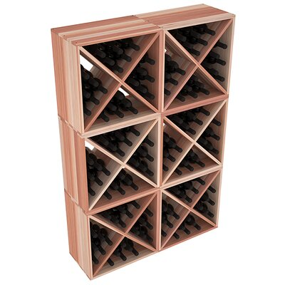 Karnes Redwood X-Cube 144 Bottle Floor Wine Rack Finish: Natural
