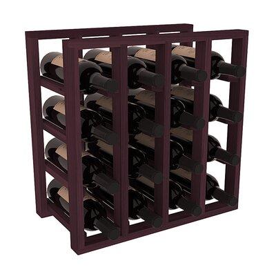 Karnes Redwood Lattice 16 Bottle Tabletop Wine Rack Finish: Burgundy