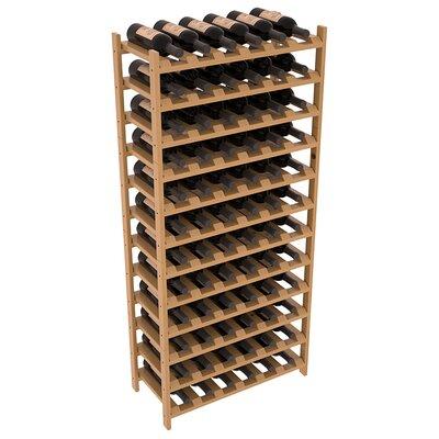 Karnes Pine Stackable 72 Bottle Floor Wine Rack Finish: Oak Satin