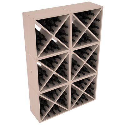 Karnes Pine X-Cube 144 Bottle Floor Wine Rack Finish: Gray Satin