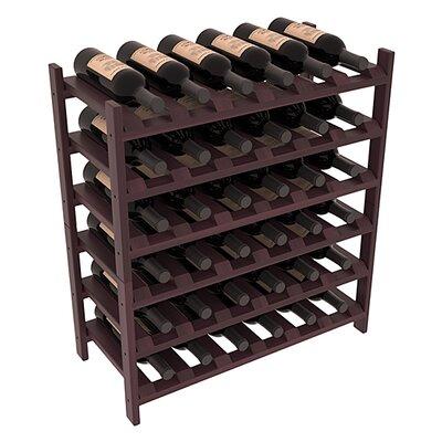 Karnes Redwood Stackable 36 Bottle Floor Wine Rack Finish: Burgundy Satin