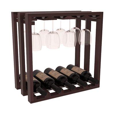 Karnes Redwood Lattice Stemware Cube 10 Bottle Tabletop Wine Rack Finish: Walnut Satin