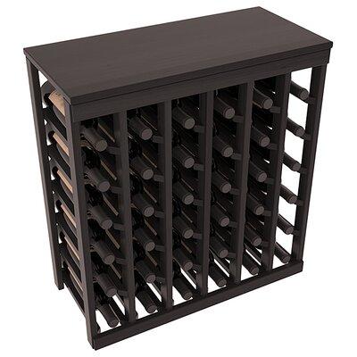 Karnes Redwood Table Top 36 Bottle Floor Wine Rack Finish: Black Satin