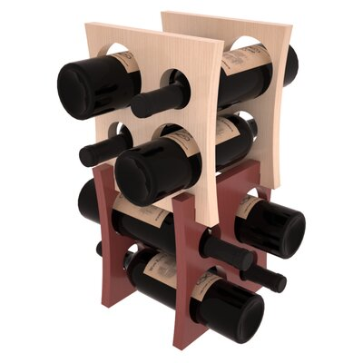 Sutton Pine Contemporary Cube 8 Bottle Tabletop Wine Rack Finish: Natural Clear Coat / Cherry