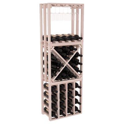 Karnes Redwood Lattice Stacking Cube 45 Bottle Floor Wine Rack Finish: Gray Satin