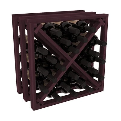 Karnes Redwood Lattice X-Cube 24 Bottle Tabletop Wine Rack Finish: Burgundy