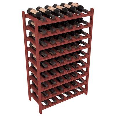 Karnes Pine Stackable 54 Bottle Floor Wine Rack Finish: Cherry