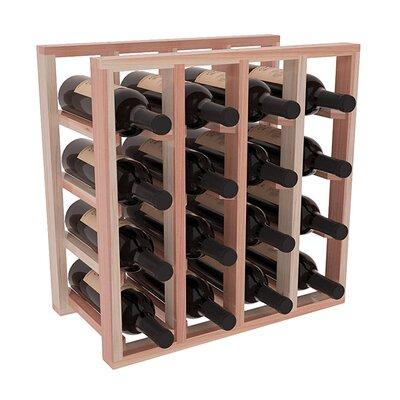 Karnes Redwood Lattice 16 Bottle Tabletop Wine Rack Finish: Natural Satin