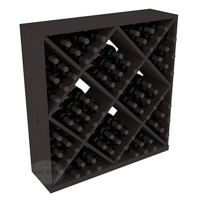 Karnes Pine Diamond Cube 82 Bottle Floor Wine Rack Finish: Black