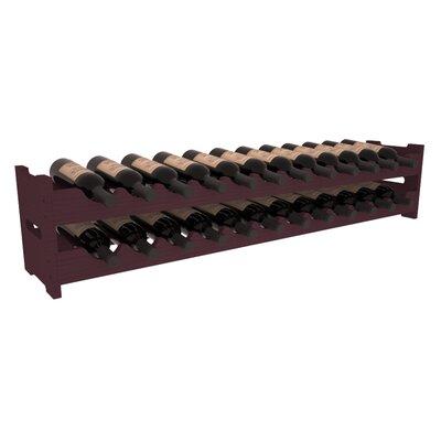 Karnes Pine Scalloped 24 Bottle Tabletop Wine Rack Finish: Burgundy
