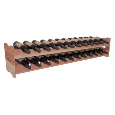 Karnes Redwood Scalloped 24 Bottle Tabletop Wine Rack Finish: Natural