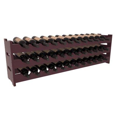 Karnes Pine Scalloped 36 Bottle Tabletop Wine Rack Finish: Burgundy Satin