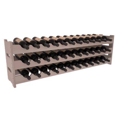 Karnes Redwood Scalloped 36 Bottle Tabletop Wine Rack Finish: Gray Satin