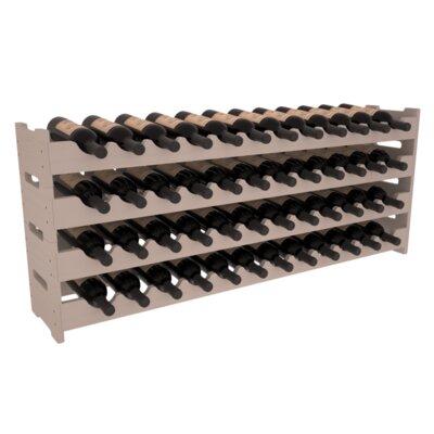 Karnes Pine Scalloped 48 Bottle Tabletop Wine Rack Finish: Gray