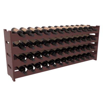 Karnes Pine Scalloped 48 Bottle Tabletop Wine Rack Finish: Walnut Satin