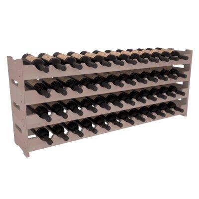 Karnes Redwood Scalloped 48 Bottle Tabletop Wine Rack Finish: Gray