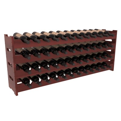Karnes Redwood Scalloped 48 Bottle Tabletop Wine Rack Finish: Cherry Satin