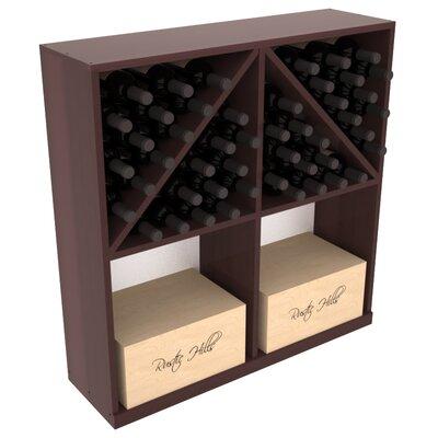 Karnes Redwood 96 Bottle Floor Wine Rack Finish: Walnut Satin
