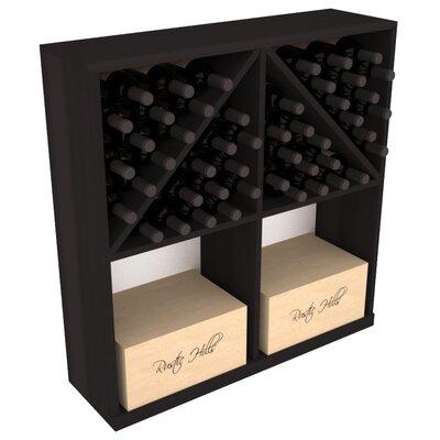 Karnes Redwood 96 Bottle Floor Wine Rack Finish: Black