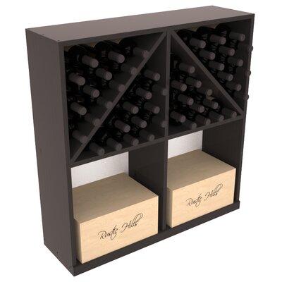 Karnes Pine 96 Bottle Floor Wine Rack Finish: Black Satin
