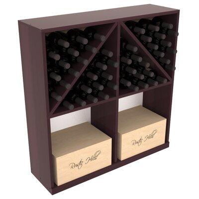 Karnes Redwood 96 Bottle Floor Wine Rack Finish: Burgundy Satin