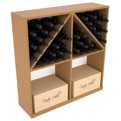 Karnes Pine 96 Bottle Floor Wine Rack Finish: Oak Satin