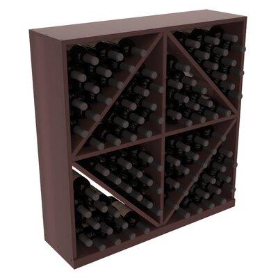 Karnes Redwood Diamond Storage 96 Bottle Floor Wine Rack Finish: Walnut Satin