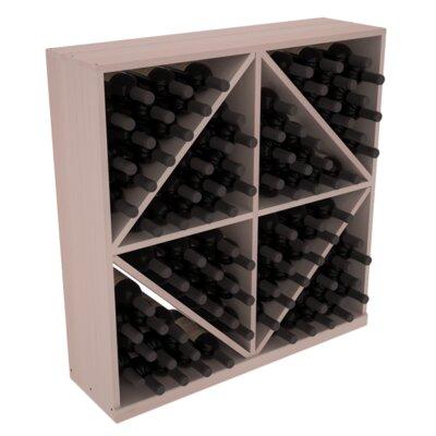 Karnes Redwood Diamond Storage 96 Bottle Floor Wine Rack Finish: Gray