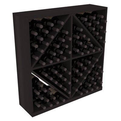 Karnes Redwood Diamond Storage 96 Bottle Floor Wine Rack Finish: Black