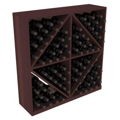 Karnes Redwood Diamond Storage 96 Bottle Floor Wine Rack Finish: Walnut