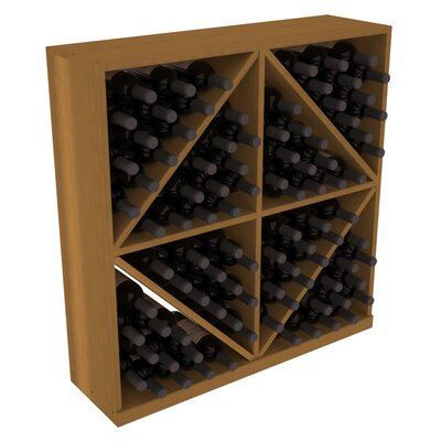 Karnes Redwood Diamond Storage 96 Bottle Floor Wine Rack Finish: Oak